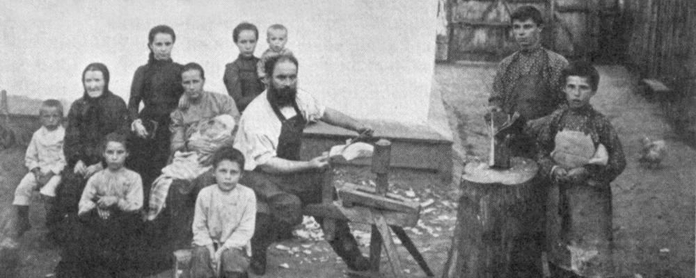 Изображение: Семья штундо-баптистов Киевской губерни.